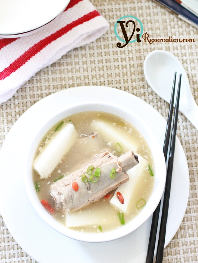 Fresh Chinese Yam with Spareribs Soup (山藥排骨湯)