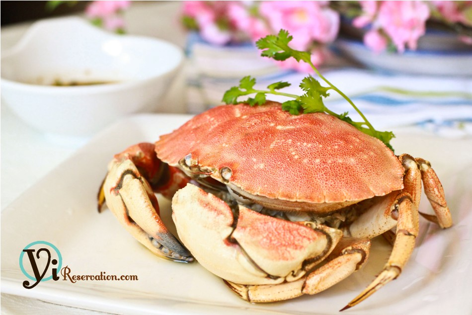 Steamed Crab 清蒸蟹 Yi Reservation
