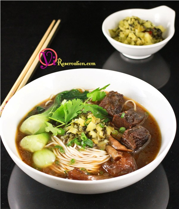 Spicy Beef Noodle Soup Recipe (四川紅燒牛肉麵)