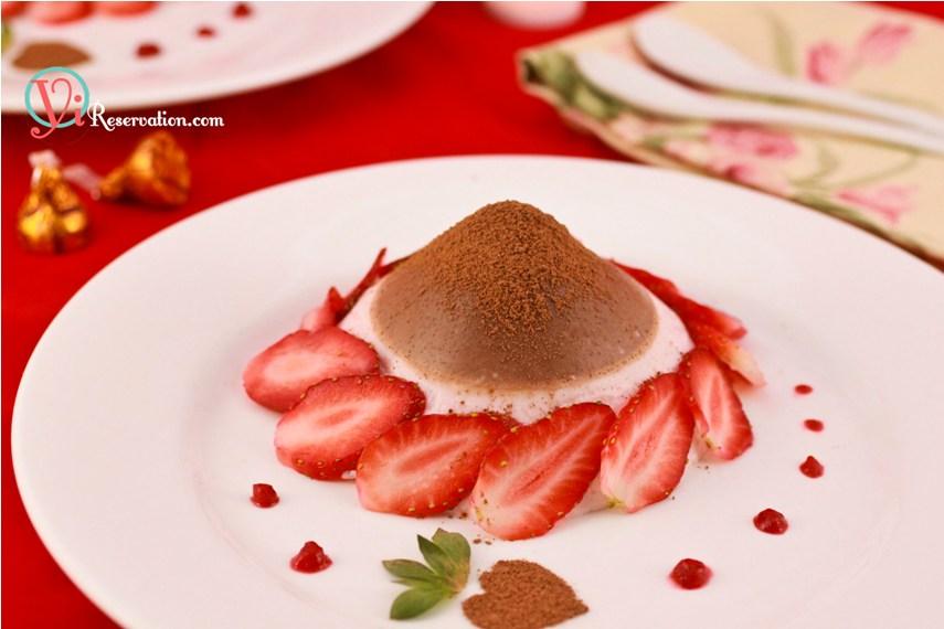Chocolate-Strawberry Panna Cotta