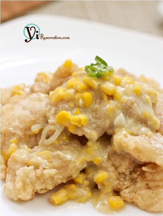 Fish Fillet in Creamy Corn Sauce