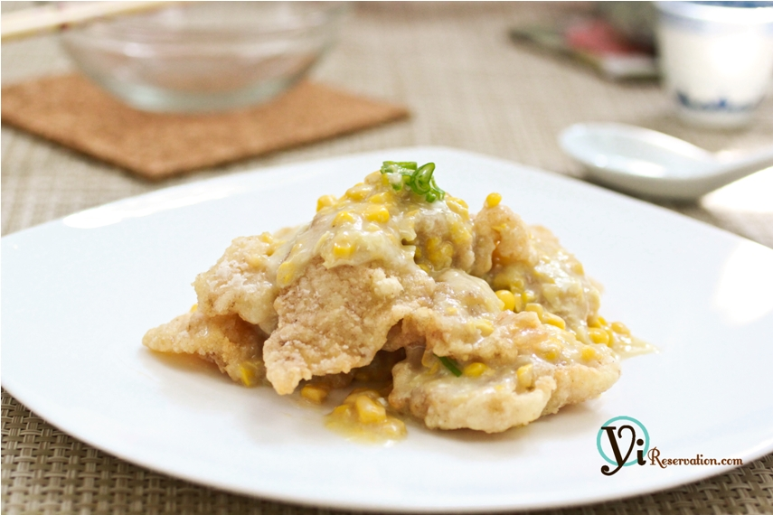 Fish Fillet in Creamy Corn Sauce