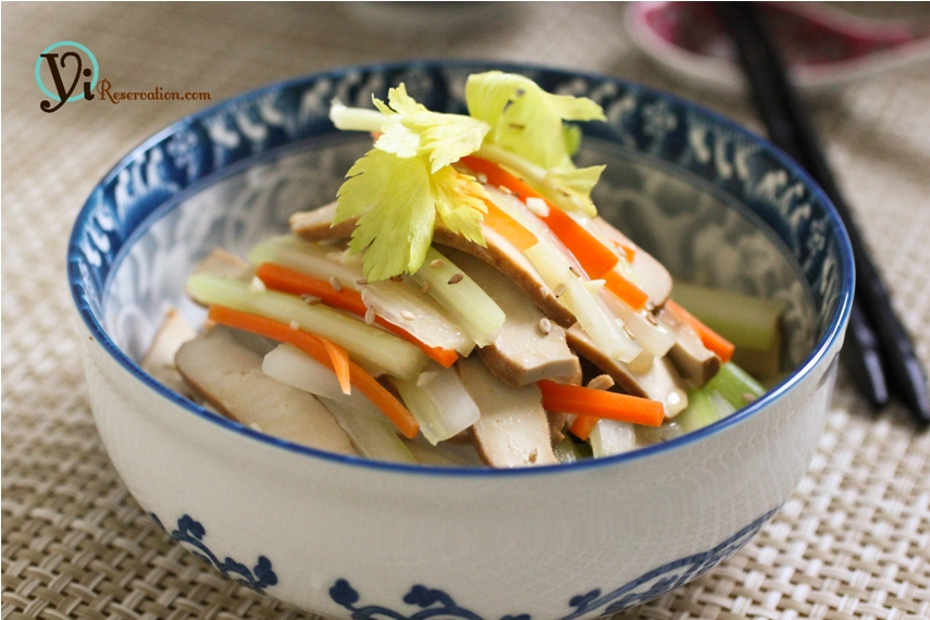 Dried Bean Curd with Celery | 涼拌芹菜豆腐干