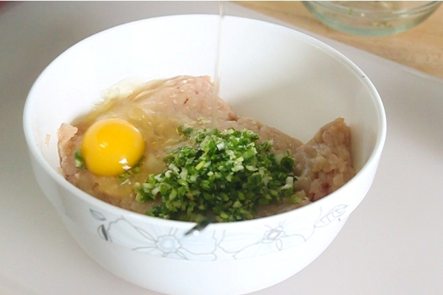 Healthy Shrimp Stuffed Chicken Meatball Soup