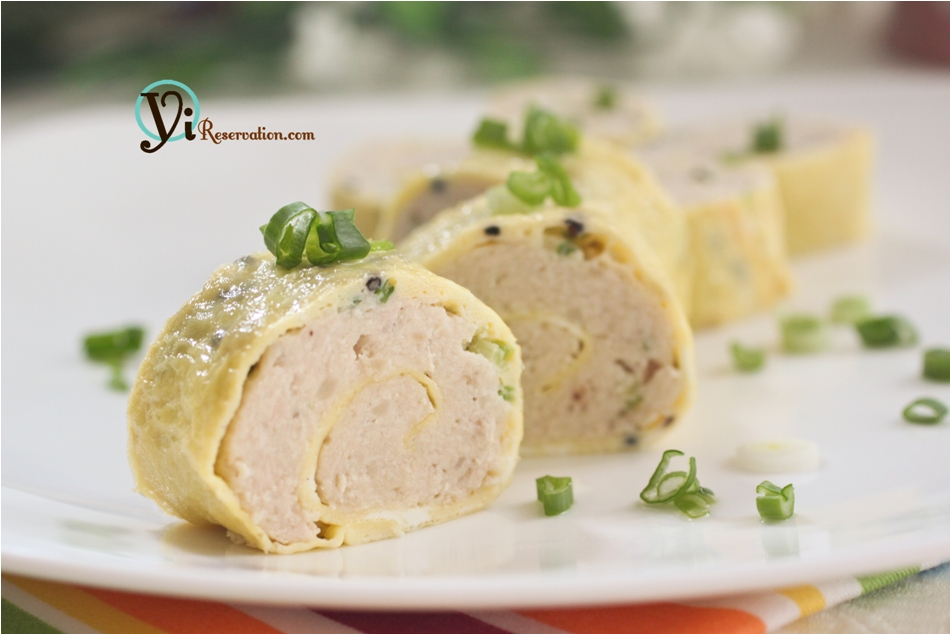 Steamed Chicken Omelette Roll 雞蛋卷