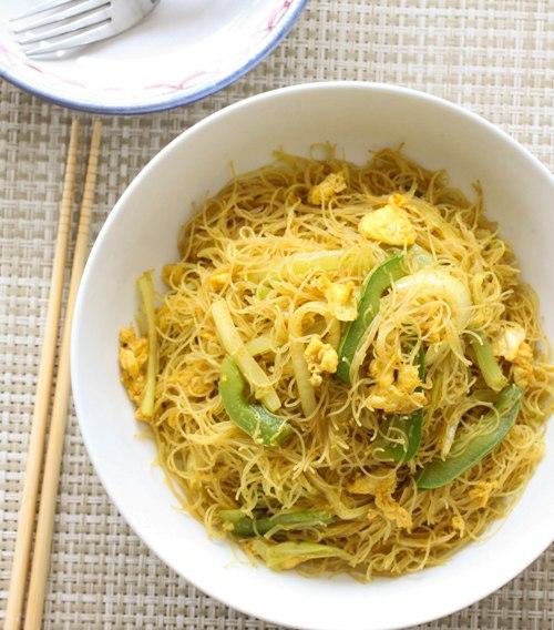 singapore chow mei fun recipe