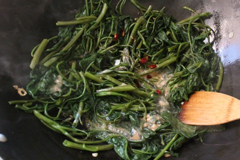 Cantonese Style Water Spinach Stir-fry
