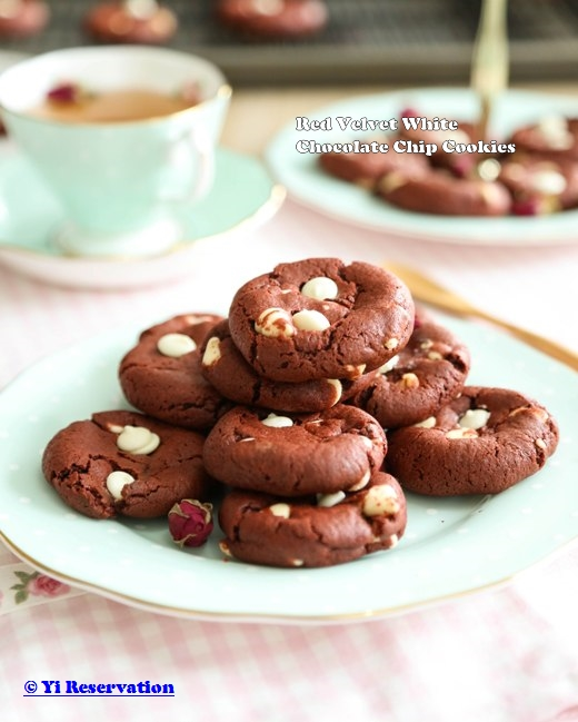 Red Velvet White Chocolate Chip Cookies Step by Step Recipe