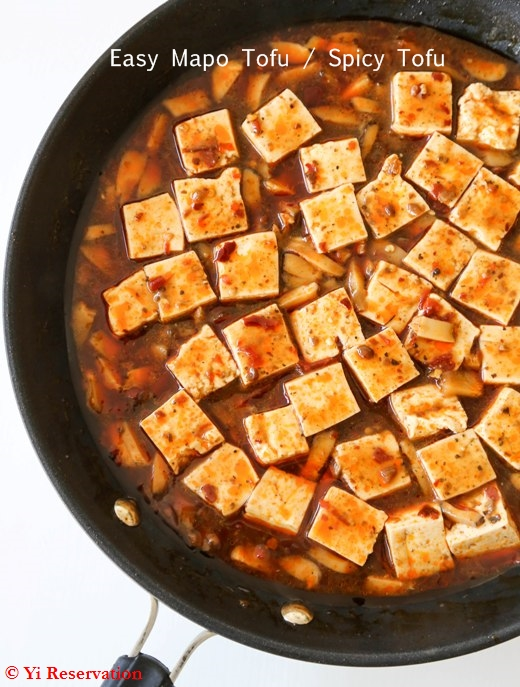 {Recipe} Quick and Easy Sichuan Mapo Tofu or Spicy Tofu Made in 25 Minutes