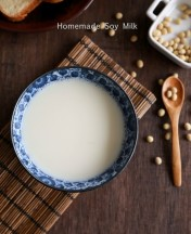 homemade soy milk Recipe