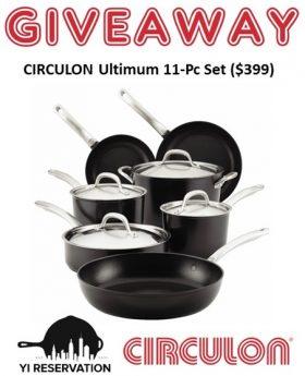 Circulon Ultimum 11-Pc Cookware Giveaway