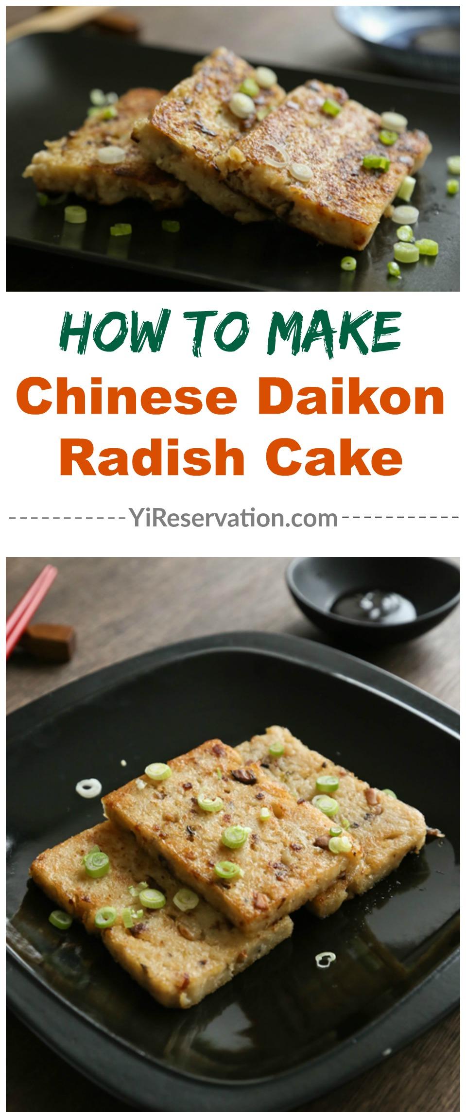 how to make Chinese Cantonese radish turnip cake
