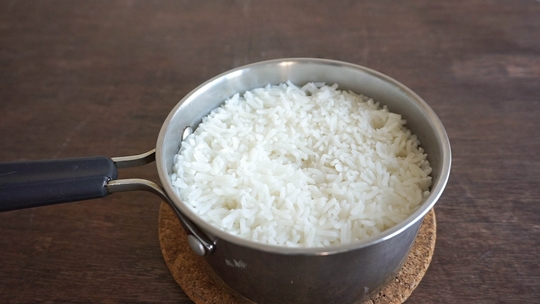cook steamed rice stovetop no rice cooker