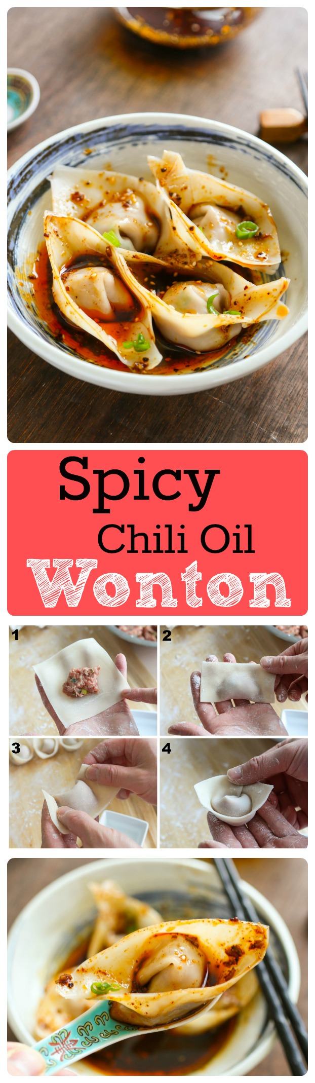 how to make red oil wontons