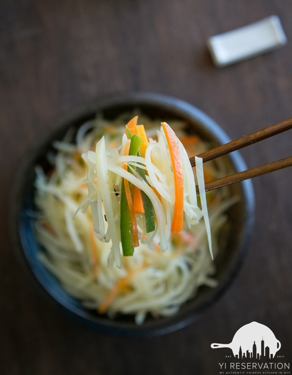how to stir fry shredded potato strips vinegar flavor