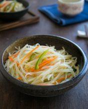 how to stir fry shredded potato strips vinegar flavor recipe