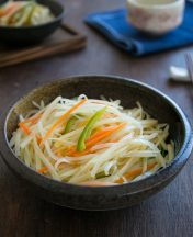 how to stir fry shredded potato strips vinegar flavor recipe