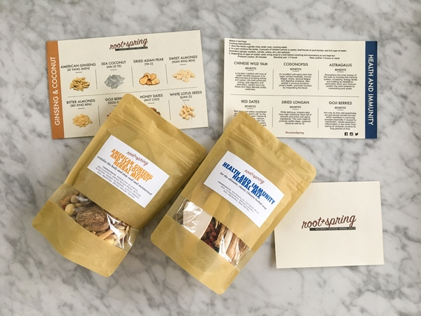 root+spring herbal soup kit review