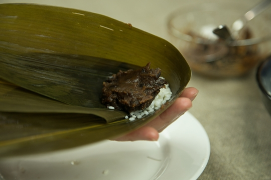 how to make red bean zongzi recipe
